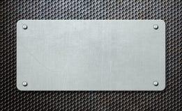 Placa de metal sobre el ejemplo del fondo 3d del peine stock de ilustración