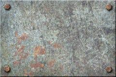 Placa de metal suja Fotografia de Stock Royalty Free