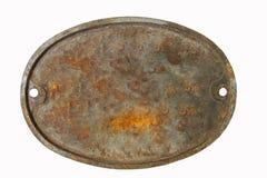 Placa de metal velha Imagens de Stock