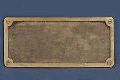 Placa de metal velha Fotografia de Stock