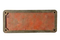 Placa de metal velha Foto de Stock