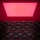 Placa de metal vermelha com alguma reflexão Fotos de Stock Royalty Free