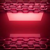 Placa de metal vermelha com alguma reflexão Imagens de Stock