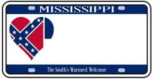 Placa de Mississippi stock de ilustración