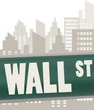 Placa de muestra de Wall Street Foto de archivo libre de regalías