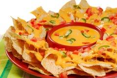 Placa de nachos Imágenes de archivo libres de regalías