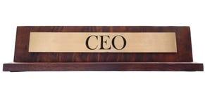 Placa de nome do CEO foto de stock
