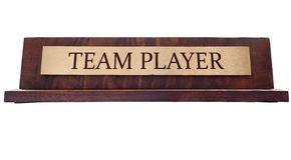 Placa de nome do jogador de equipa imagem de stock