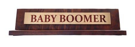 Placa de nome do nascido no Baby Boom foto de stock