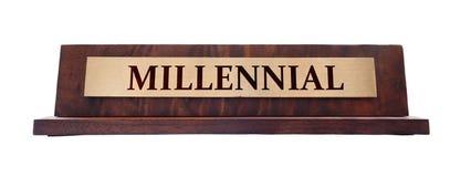 Placa de nome milenar imagem de stock royalty free