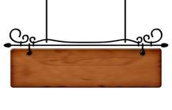 Placa de observação de madeira Foto de Stock