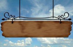 Placa de observação de madeira da rua Imagens de Stock