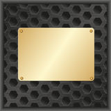 Placa de oro Fotografía de archivo