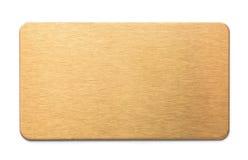 Placa de oro fotos de archivo libres de regalías