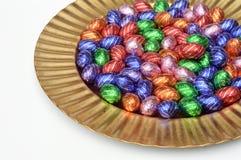 Huevos de Pascua del chocolate Imagenes de archivo