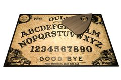 Placa de Ouija isolada no fundo branco ilustração royalty free