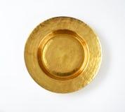 Placa de ouro vazia fotos de stock