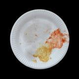 Placa de papel descartável para o alimento imagens de stock royalty free