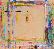 Placa de partícula com manchas da pintura Imagem de Stock Royalty Free
