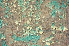 Placa de partícula de madeira pintada com uma quebra abstraia o fundo Fundo de madeira Fotos de Stock