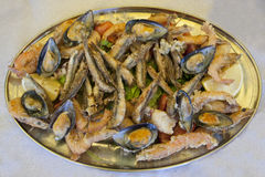 Placa de peixes Fotografia de Stock