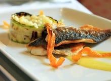 Placa de peixes deliciosa Fotos de Stock