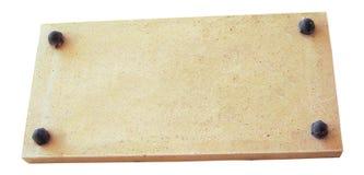 Placa de piedra foto de archivo libre de regalías