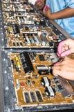 Placa de poder eletrônica do diodo emissor de luz da tevê Fotografia de Stock