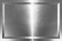 Placa de prata Imagem de Stock