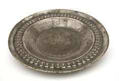 Placa de prata antiga Imagem de Stock