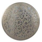 Placa de prata redonda Imagem de Stock Royalty Free