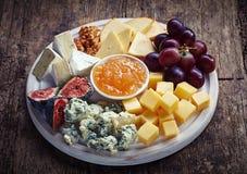 Placa de queso foto de archivo libre de regalías