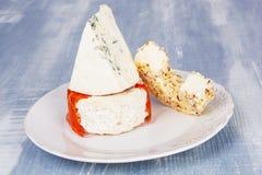 Placa de queso culinaria. Fotos de archivo