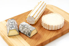 Placa de queso de cabra foto de archivo libre de regalías