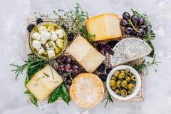 Placa de queso, visión superior foto de archivo libre de regalías