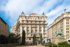Placa de Ramon Berenguer in Barcelona, Spain Royalty Free Stock Photos
