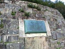 Placa de Rockefeller en el Cumberland Gap Fotografía de archivo