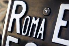 Placa de Roma Fotos de archivo