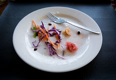 Placa de salada Foto de Stock