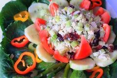 Placa de salada de frango saboroso. Foto de Stock