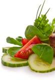 Placa de salada fresca Fotografia de Stock