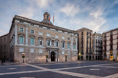 Placa de Sant Jaume in Barcelona Stock Photo