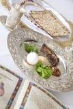Placa de Seder del Passover Imagen de archivo
