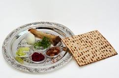 Placa de Seder del Passover imagenes de archivo