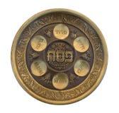 Placa de Seder del Passover de la vendimia Fotos de archivo libres de regalías