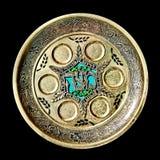 Placa de Seder del Passover de la vendimia Imagenes de archivo