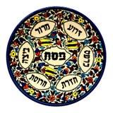 Placa de Seder del Passover de la vendimia Imagen de archivo
