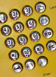 Placa de seletor do telefone público Imagem de Stock