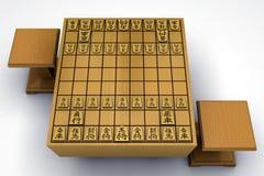 Placa de Shogi ilustração stock