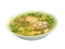 Placa de sopa de pollo. Foto de archivo libre de regalías